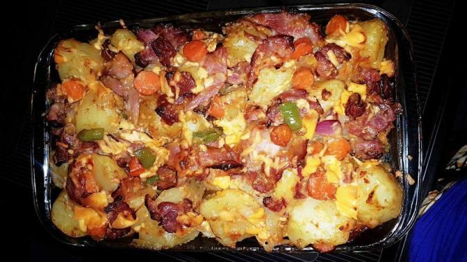 My Sweet Chilli, Bacon and Cheesy Potatoes